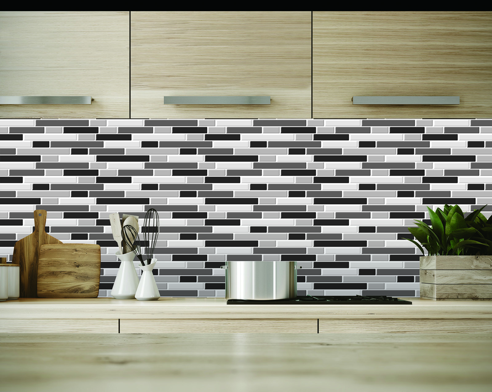 - 10-Sheets Peel And Stick Backsplash Tile, 3D Self-Adhesive Tile