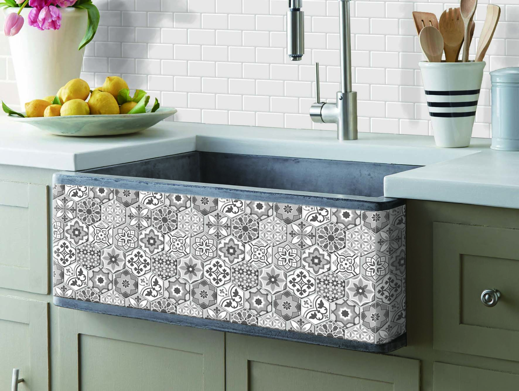 Peel And Stick Backsplash Tiles For Kitchen Talavera Mexican